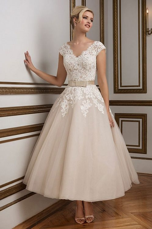 1950 Wedding Dresses Fresh 70 Elegant Vintage Chiffon Tea Length Wedding Dresses