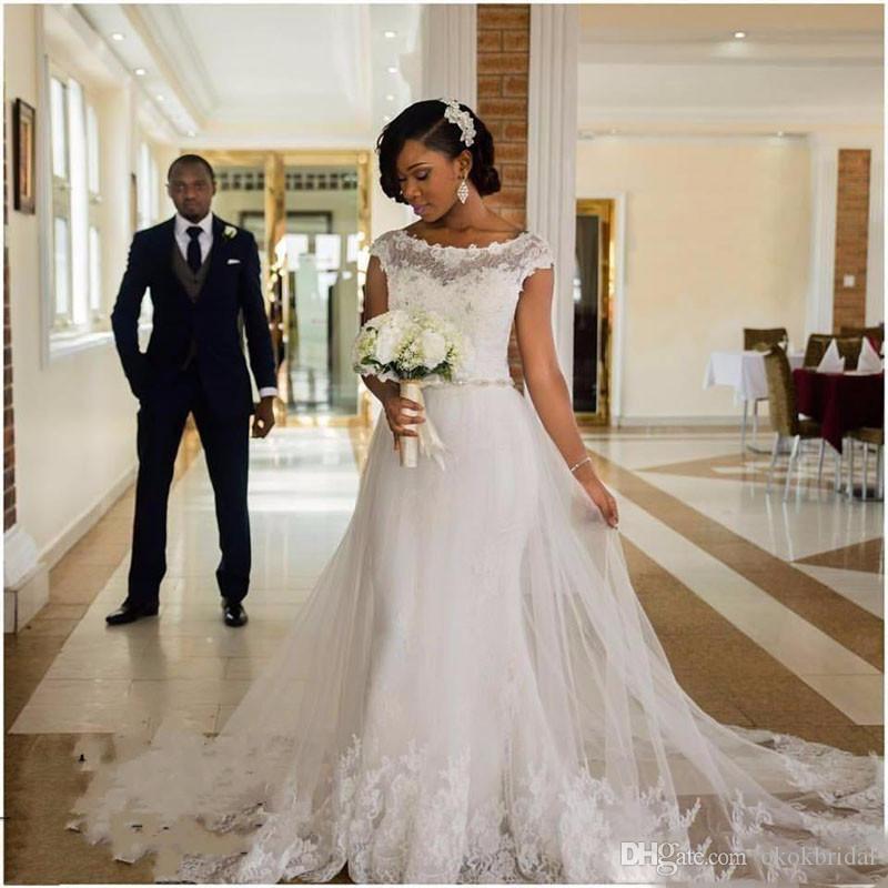 2 In 1 Wedding Dress Best Of Newest Wedding Dresses 2019 Vestido De Noiva Plus Size Bridal Dress White Tulle African Wedding Gowns