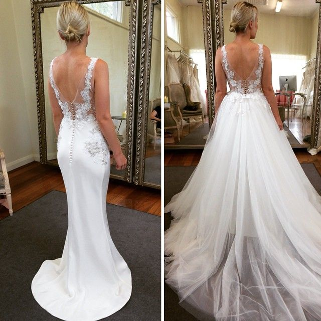 2 In 1 Wedding Dress New Love This Skirt Overlay for Day to Night Transformation