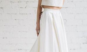 27 Unique 2 Piece Crop top Wedding Dress