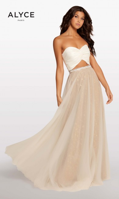 alyce paris kp107 strapless crop top formal dress 01 253