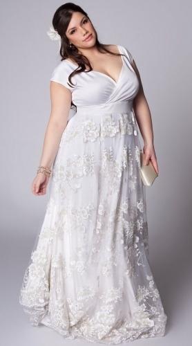 popular plus size second wedding dresses