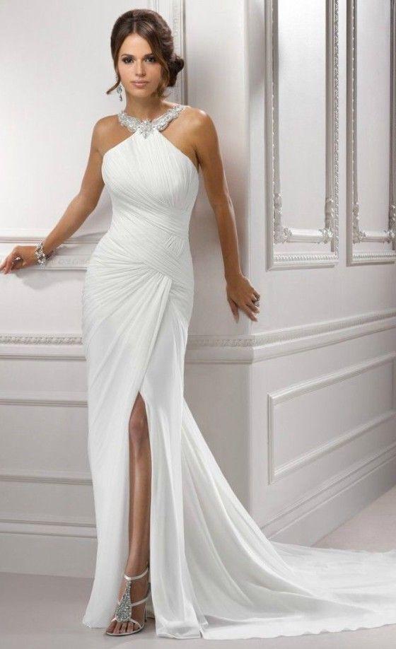 2nd wedding gowns unique simple elegant halter wedding dress for older brides over 40 50 60