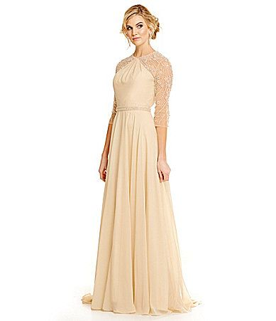 50th Anniversary Dresses Elegant Lasting Moments Embellished Chiffon Gown Dillards