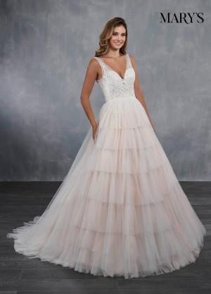 marys bridal mb3068 tiered skirt bridal dress 01 546