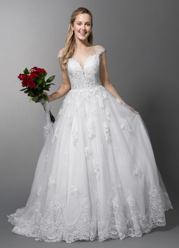 A Line Princess Wedding Dresses Elegant Ball Gown Wedding Dresses Azazie