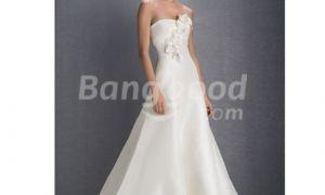 25 New A Line Strapless Wedding Dresses