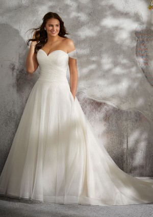 mori lee 3245 lyla drop waist plus size wedding gown 01 420