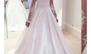 22 Lovely A Line Wedding Dresses with Sleeves