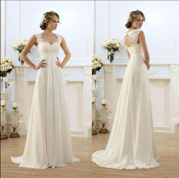 Affordable Maternity Wedding Dresses Best Of Discount 2017 Simple Long Empire Waist Maternity Beach Reception Wedding Dresses Lace Open Back Bridal Gowns for Pregnant Women Cheap Price A Line