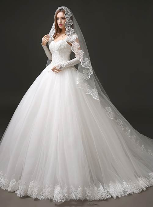 Affordable Wedding Dresses Inspirational Lace Ball Gown Wedding Dress with Sleeves Elegant Ball Gown