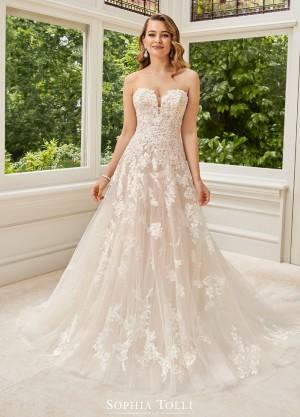 sophia tolli y rosa strapless wedding dress 01 681