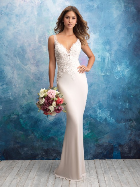 allure bridals 9554 illusion back wedding gown 01 439