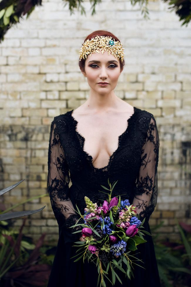 Alternatives to Wedding Dresses Unique Alternative Gothic Wedding Styling with Dark Spring Vibes at
