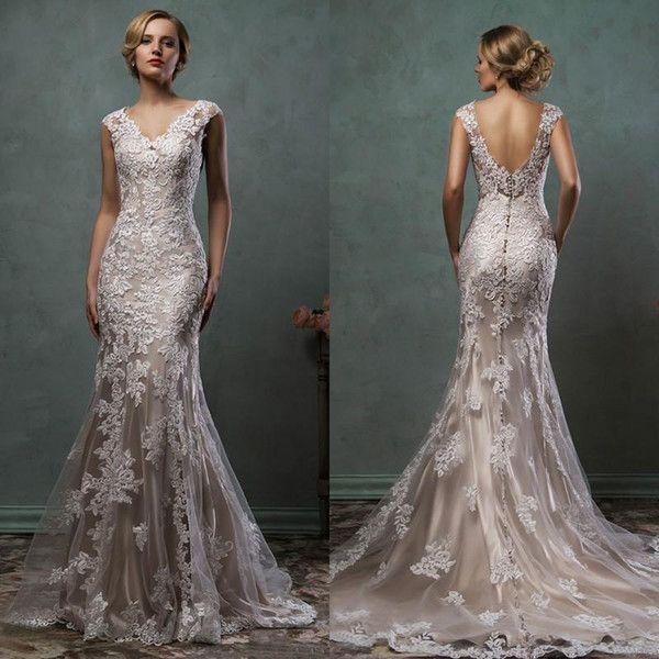 Amelia Sposa 2016 Wedding Dresses Awesome Vintage Amelia Sposa Volle Spitze Applikationen Meerjungfrau