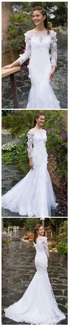 0d664f0344ee0559fdb9da06ee63d397 mermaid gown mermaid wedding dresses