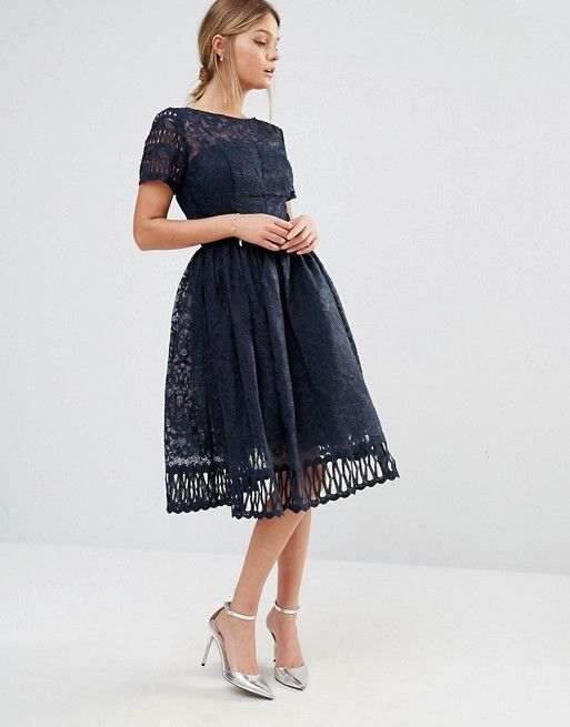 Asos Dresses for Wedding New Chi Chi London Premium Lace Dress with Cutwork Detail and
