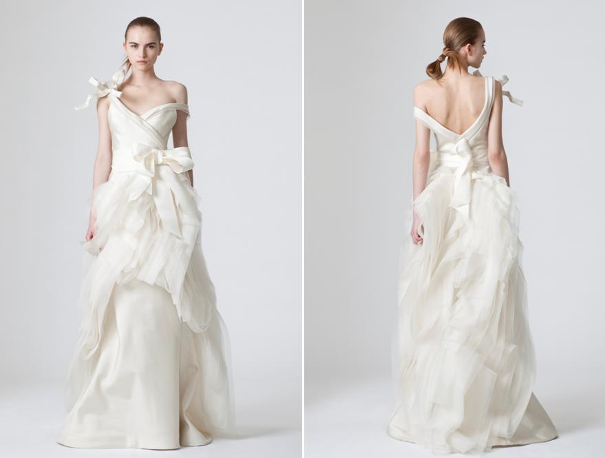 vera wang spring 2010 oversized bows ivory wedding dress love v back full