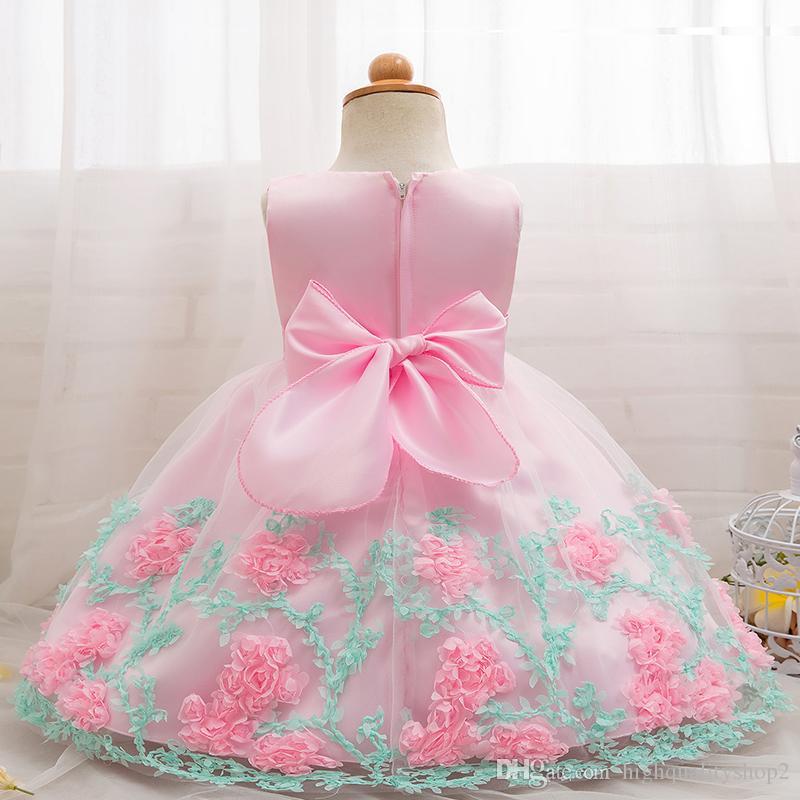 highqualit floral baby girl dress baptism