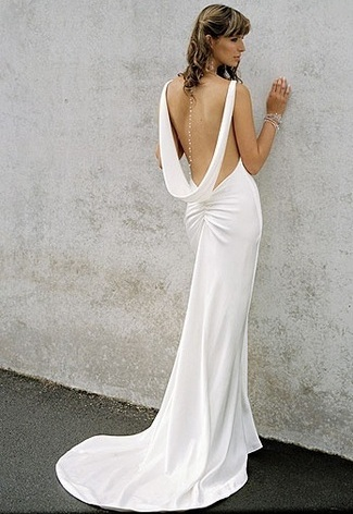 Backless Wedding Dress Gown 031
