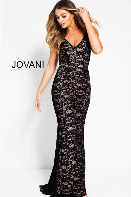 jovani backless lace formal gown 01 402