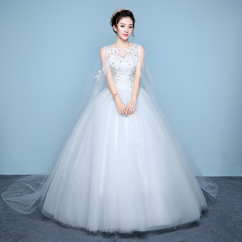 Luxury Wedding Dress Bride Princess Dream Dresses Ball Gowns Lace Up Wedding Dresses