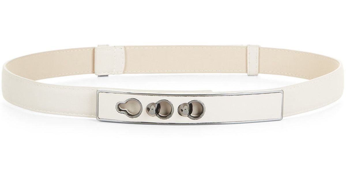 bcbgmaxazria light stone stud plated faux leather waist belt product 0 normal