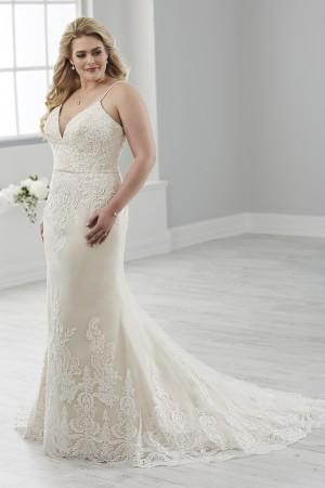 christina wu love spaghetti straps bridal dress 01 466