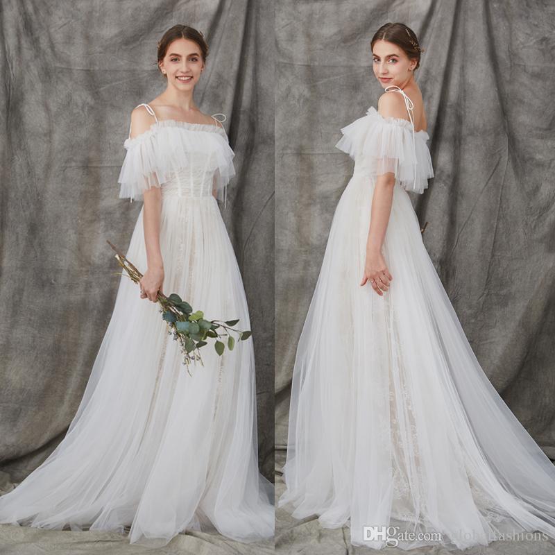 Beach Wedding Dresses Cheap Unique Bohemian Country Beach Wedding Dresses 2018 F Shoulder Boho Wedding Gowns Summer Vintage Bride Dress Cheap Custom Make Bridal Gowns