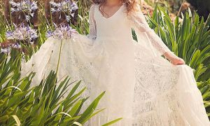 24 Elegant Beach Wedding Flower Girl Dresses