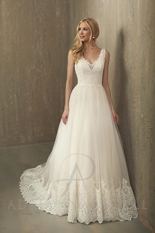 adrianna papell paisley wedding dress 01 163