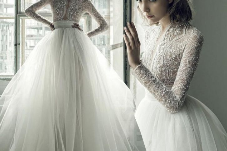 Beaded Wedding Dresses with Sleeves Fresh Bohemian Wedding Dresses 2017 Ersa atelier Long Sleeves