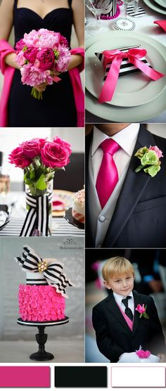 b2c30d31a c75ea3b788df black and pink wedding ideas black weddings