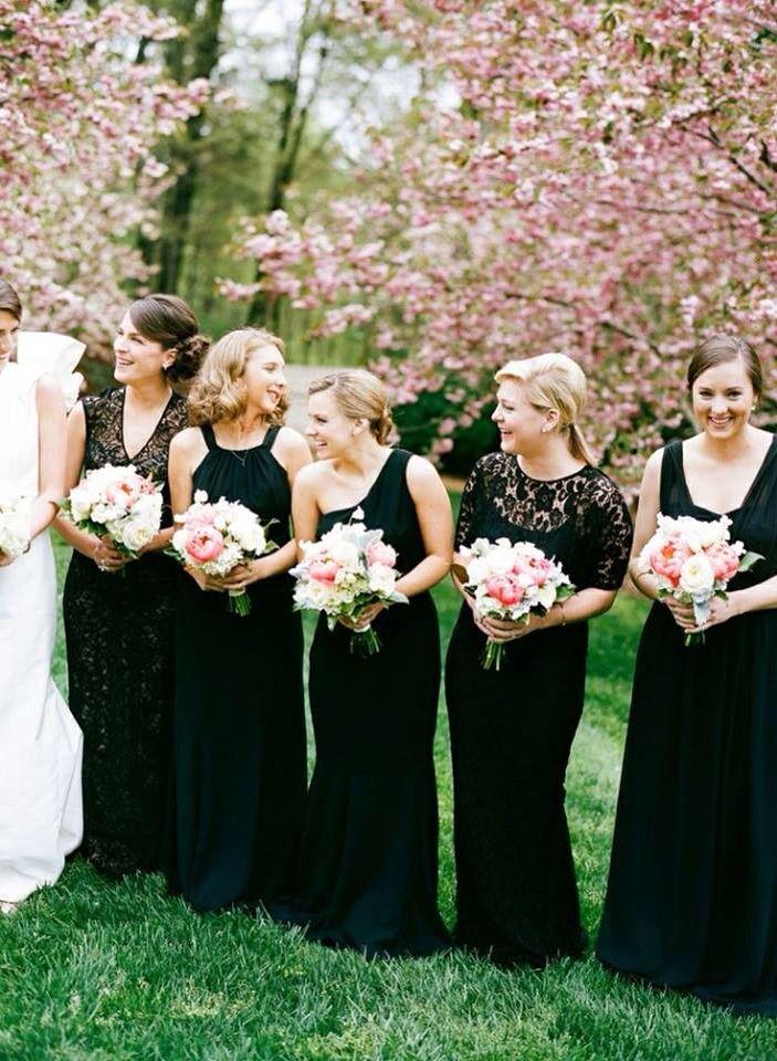 Black Bridesmaid Dresses New Black Mismatched Bridesmaid Dresses