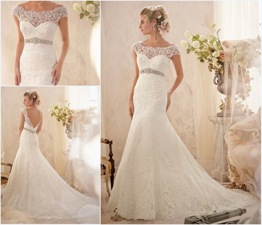 Bloomingdales Lace Wedding Dresses