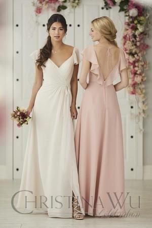 christina wu open v back bridesmaid dress 01 663