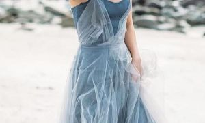 28 Fresh Blue Bridal Dress