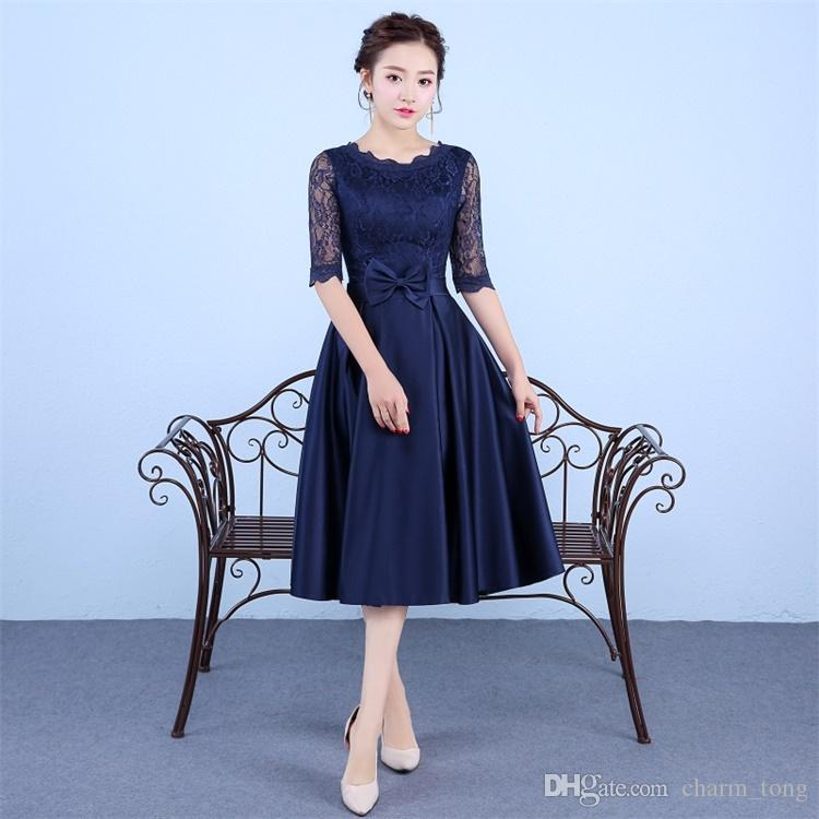 blue cocktail dresses for wedding luxury new navy blue evening dresses elegant high neck bride gown ball prom