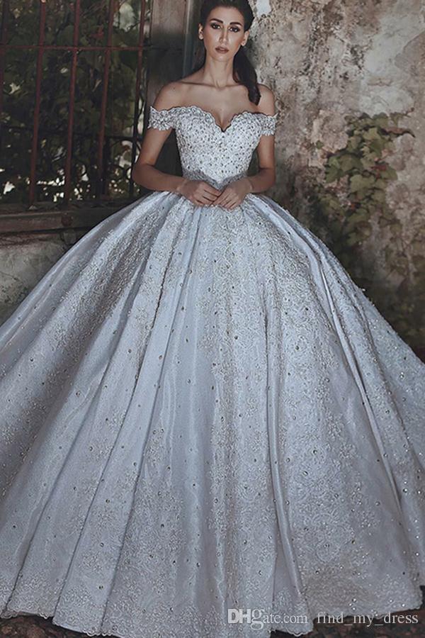 big ball gown wedding dresses elegant glitters corset vintage empire princess ball gown f shoulder