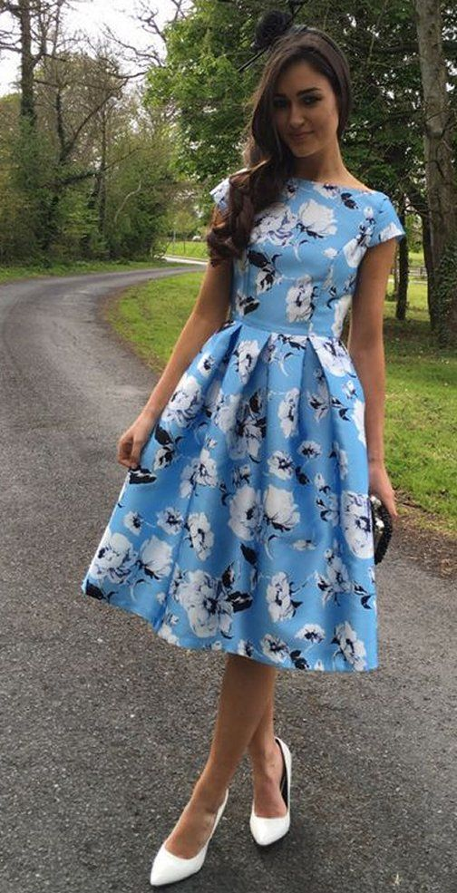 blue dresses to wear to a wedding luxury midi dress blue white occasion wear wedding guest races floral