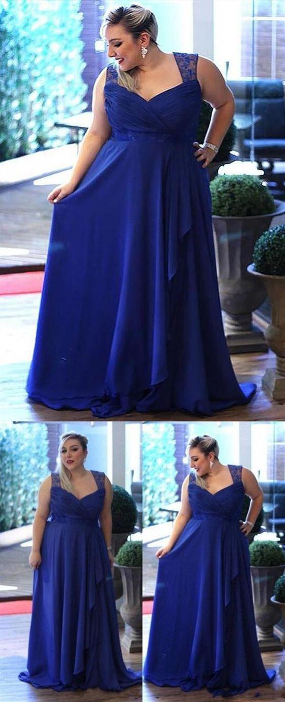 Blue Wedding Dresses Plus Size Beautiful Royal Blue Sweetheart Sleeveless Prom Dresses Plus Size