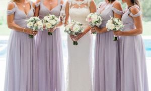 20 Elegant Blush Pink and Gold Bridesmaid Dresses