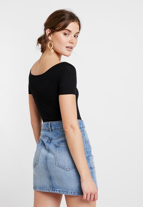 Body Dresses Inspirational Bardot Body Marker T Shirt Basic Black