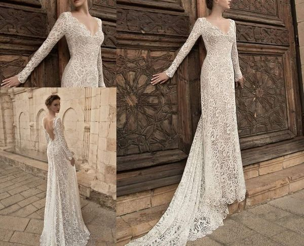 Bodycon Wedding Dress Best Of 2015 Long Sleeve Sheath Wedding Dresses Y V Neck Lace Bodycon Greek Goddess Beach Garden Bridal Wedding Gowns Backless Casual Wedding Dresses