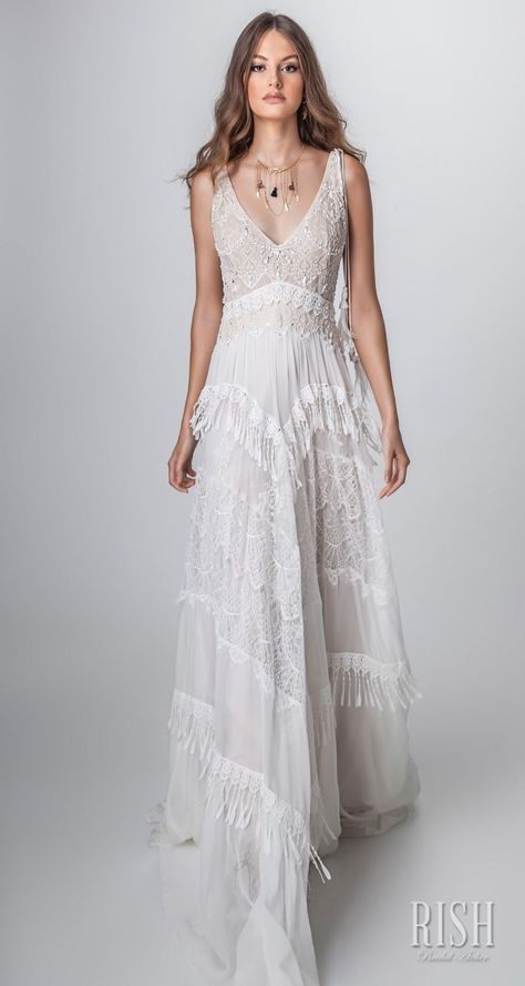 "Boho Chic Wedding Dresses Awesome Rish Bridal 2018 ""sun Dance"" Kollektion"