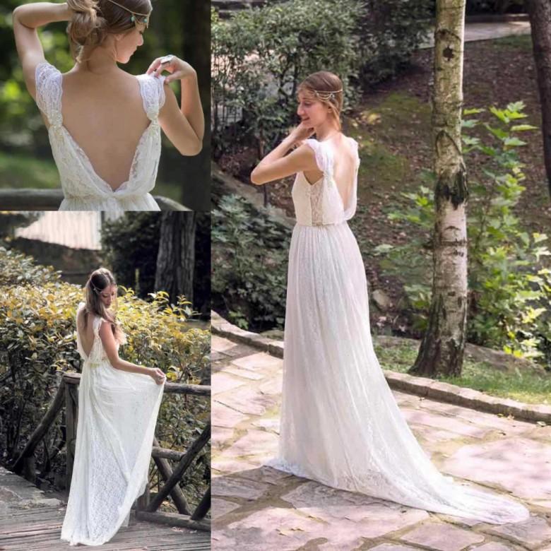unique style bohemian wedding dresses