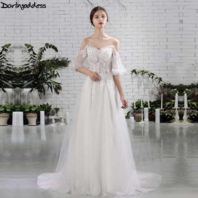 lace beach wedding dress unique aliexpress darlingoddess luxury boho wedding dresses f