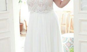 28 Elegant Boho Plus Size Wedding Dress