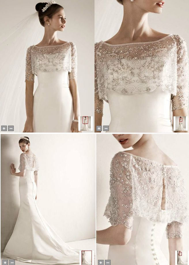 Bolero for Wedding Dresses Inspirational Oleg Cassini Satin Wedding Gown with Beaded Pop Over Jacket