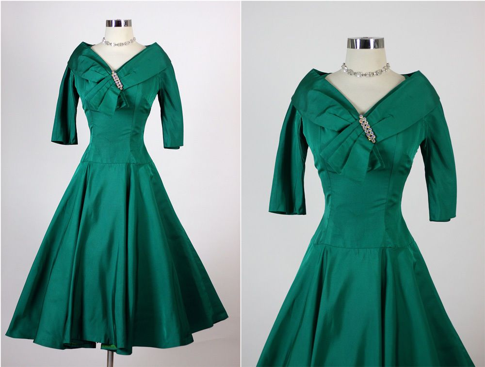 green cocktail dress for wedding best of vintage 50s elegant emerald green cocktail party dress